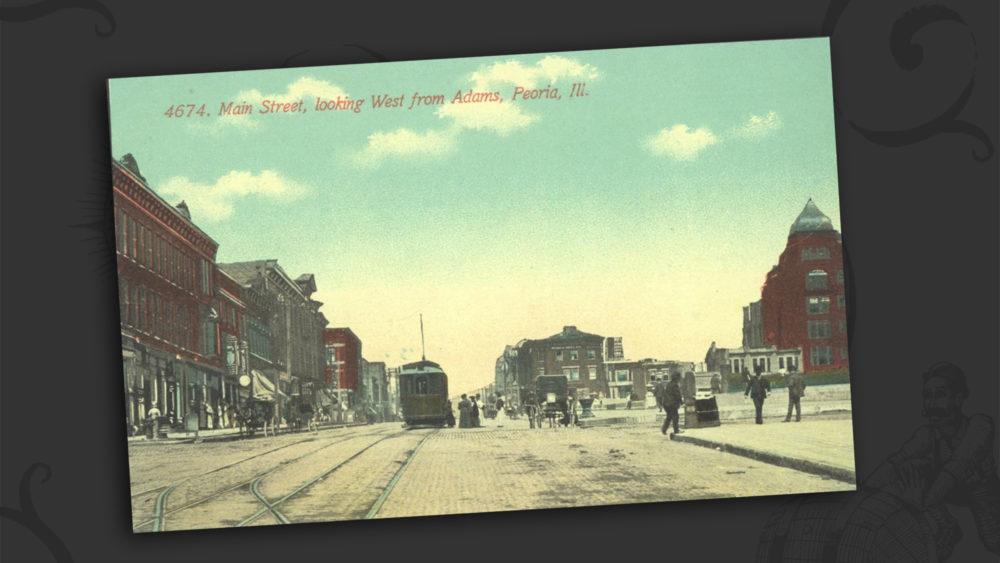 Main Street looking West from Adams